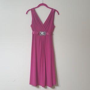 Scarlett Nite 4P Pink Embellished Bling Dress